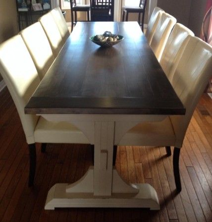Customized Triple Pedestal Farmhouse Table   DIY Projects