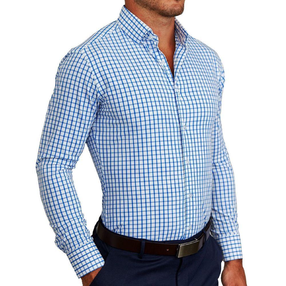 30e6c0cb8e1 NWT STATE   LIBERTY Men s Athletic Fit Blue Window Pane Dress Shirt Large  Medium  fashion  clothing  shoes  accessories  mensclothing  shirts (ebay  link)