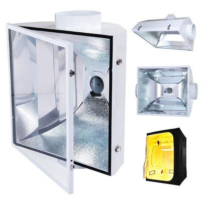 8  Vertical Reflector XL HPS MH Grow Tent Room Light AIR Cooled Glass Hood 95  sc 1 st  Pinterest & 8