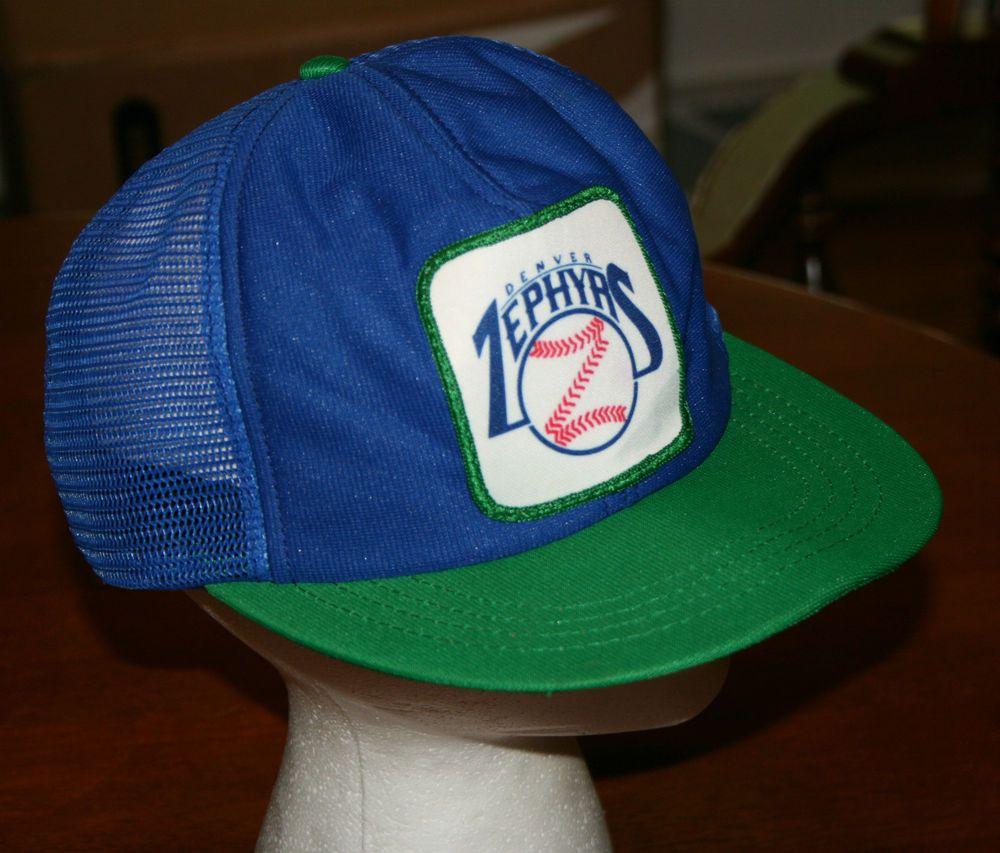 Denver Zephyrs: Vintage Denver Zephyrs Snapback Cap Hat Baseball Minors