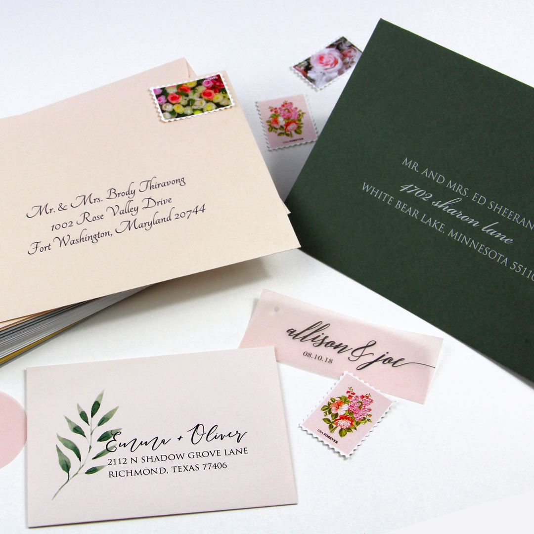 Addressed And Printed Wedding Envelope Samples From Lci Paper