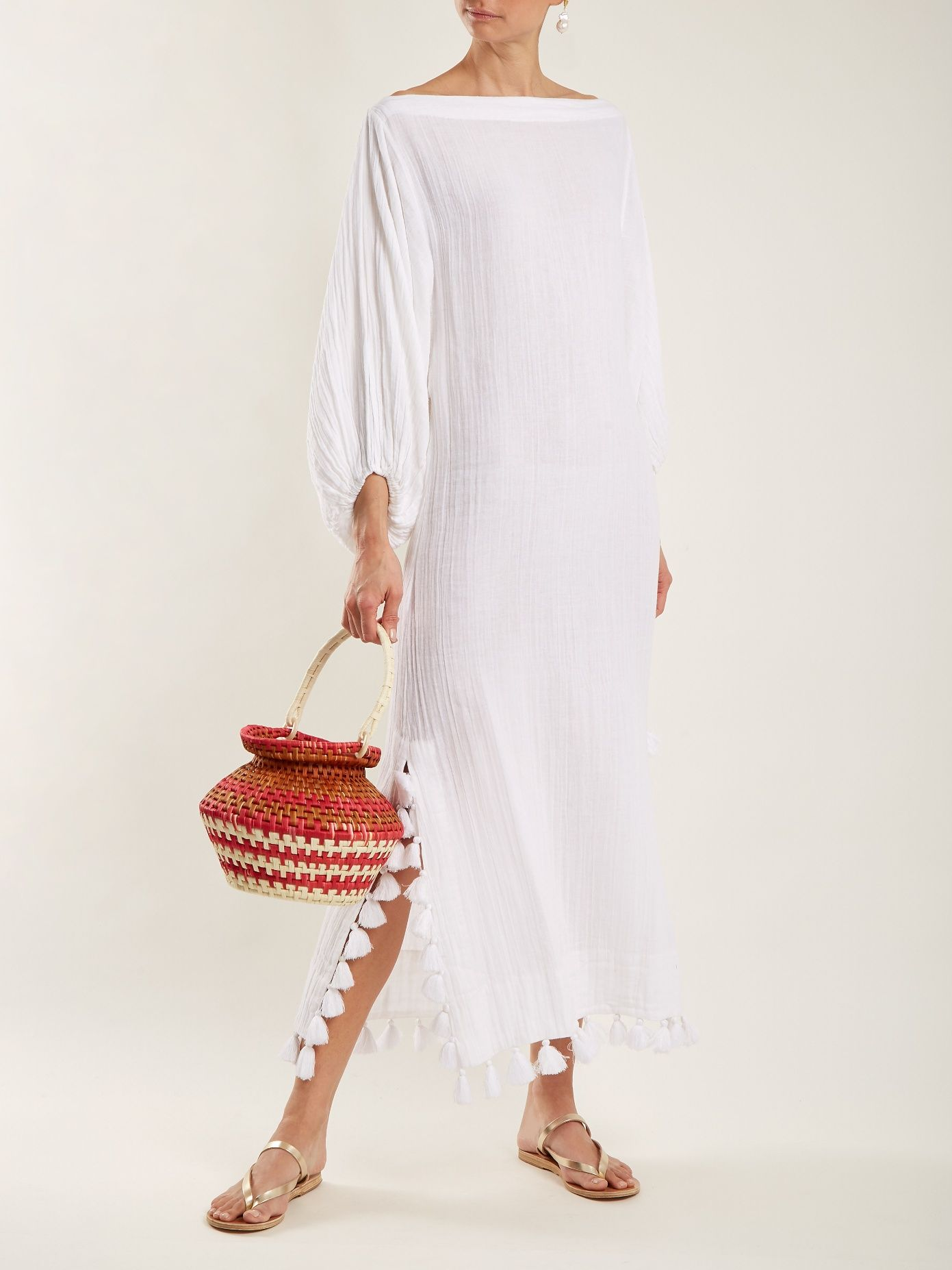 Delilah off-shoulder tassel-trimmed dress Rhode Resort Discount Pictures Cheap Online Shop Big Sale Cheap Price Limited Edition Cheap Online Low Price Fee Shipping Sale Online Vg8op