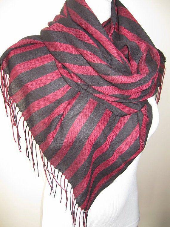 Grey gray black stripe viscose fabric scarf-Scarves2012 fashioN-woman-Men's SCARVES ,Turkey Turkish #mensscarves