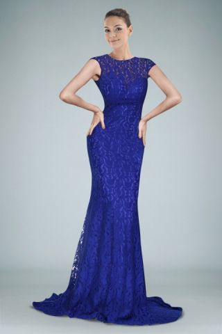 delicate-sheath-evening-dress-with-lace-cover-in-royal-blue ...