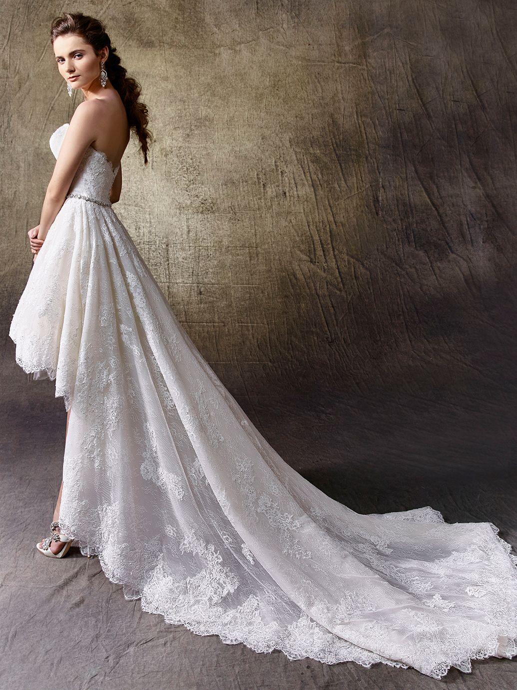 Kanten jurk voor kort achter lang