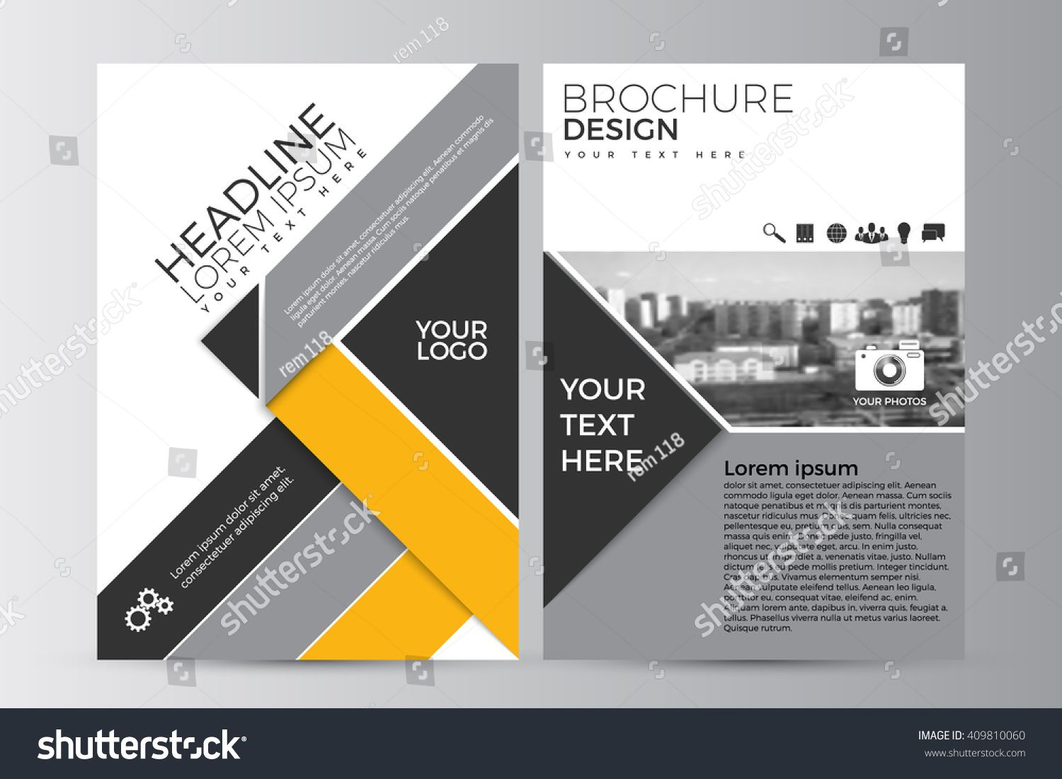 Abstract Flyer Design Background Brochure Template Can Be Used