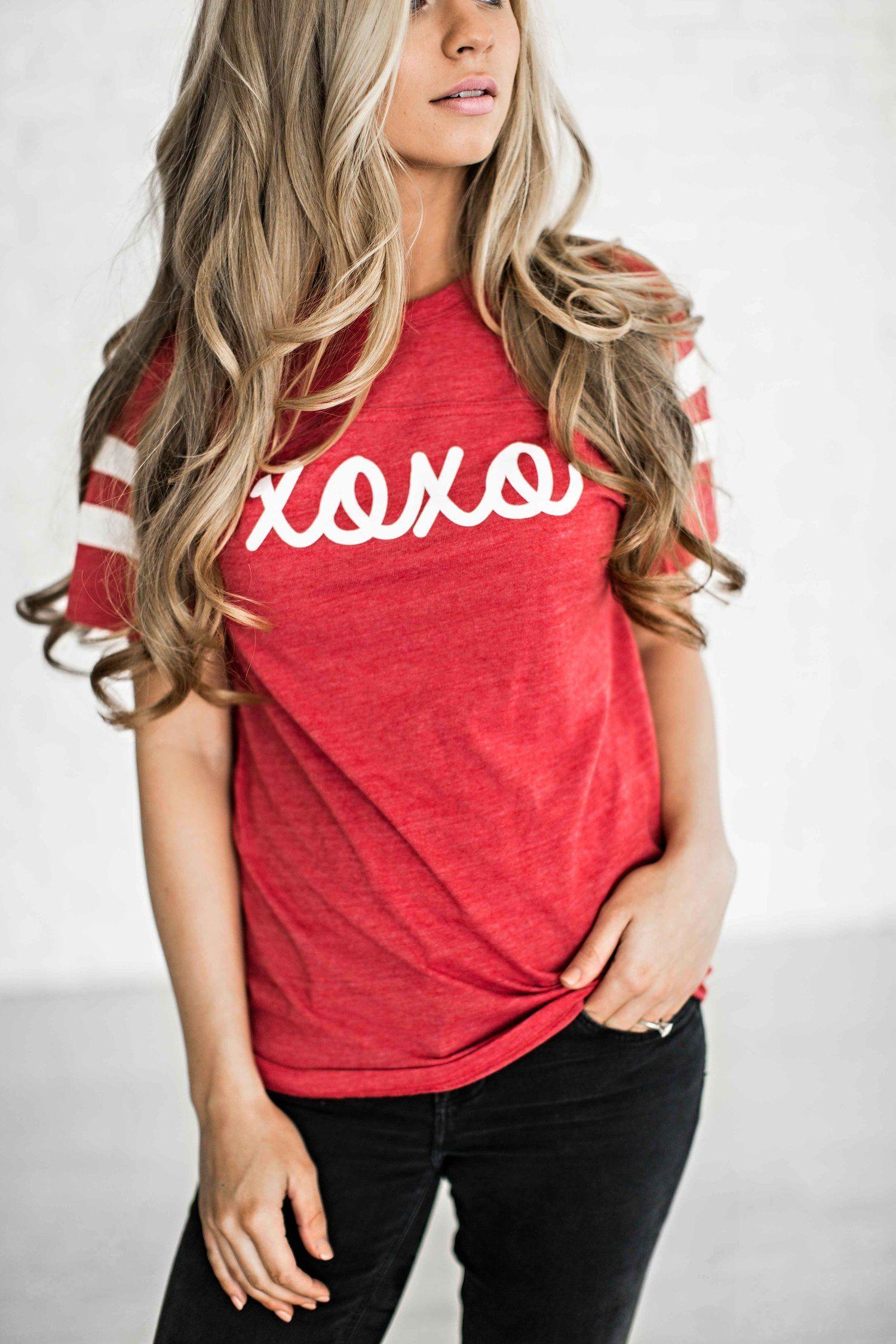 afc7f45c1 valentines, valentines apparel, valentines shirt, fashion, style, blonde,  ootd, shop, jessakae, wavy hair, hair, womens fashion, womens style, ...