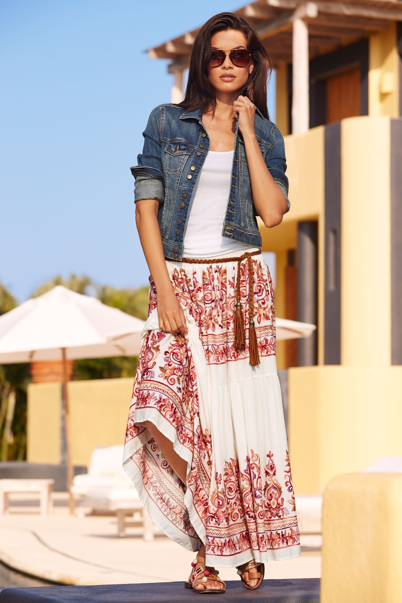 Image result for Bohemian Style in a Peasant Skirt