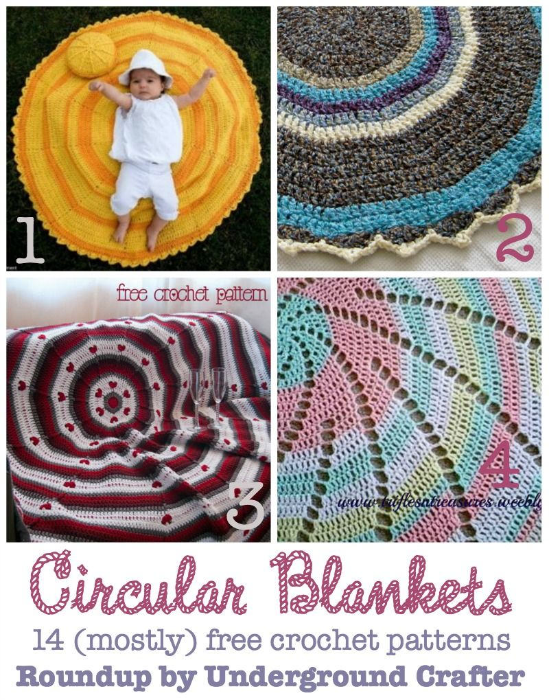 14 (Mostly Free) Crochet Patterns for Circular Blankets | FREE Farts ...