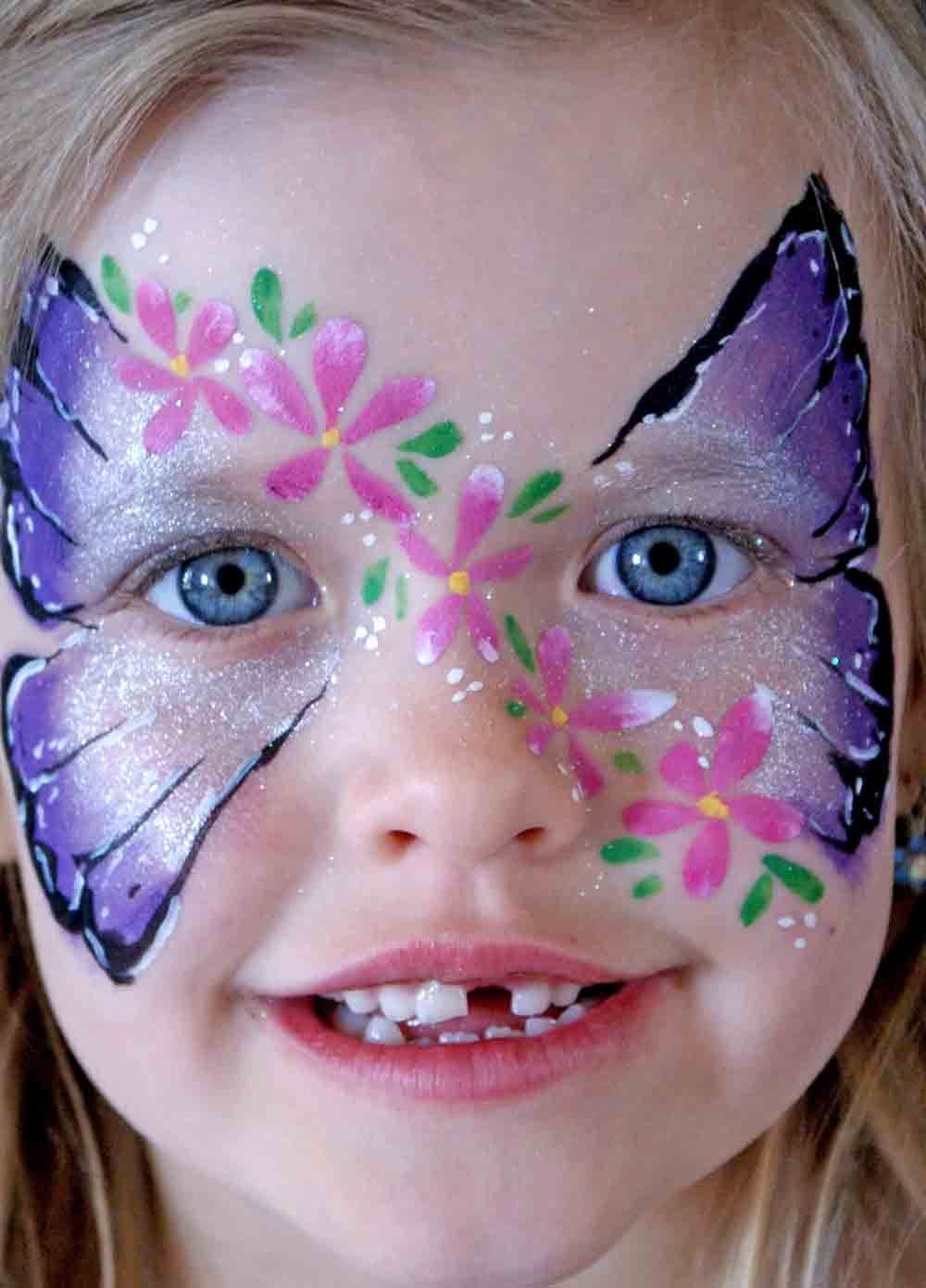 face painting pictures | full face art body painting prenatal ... for Butterfly Painting Designs  54lyp