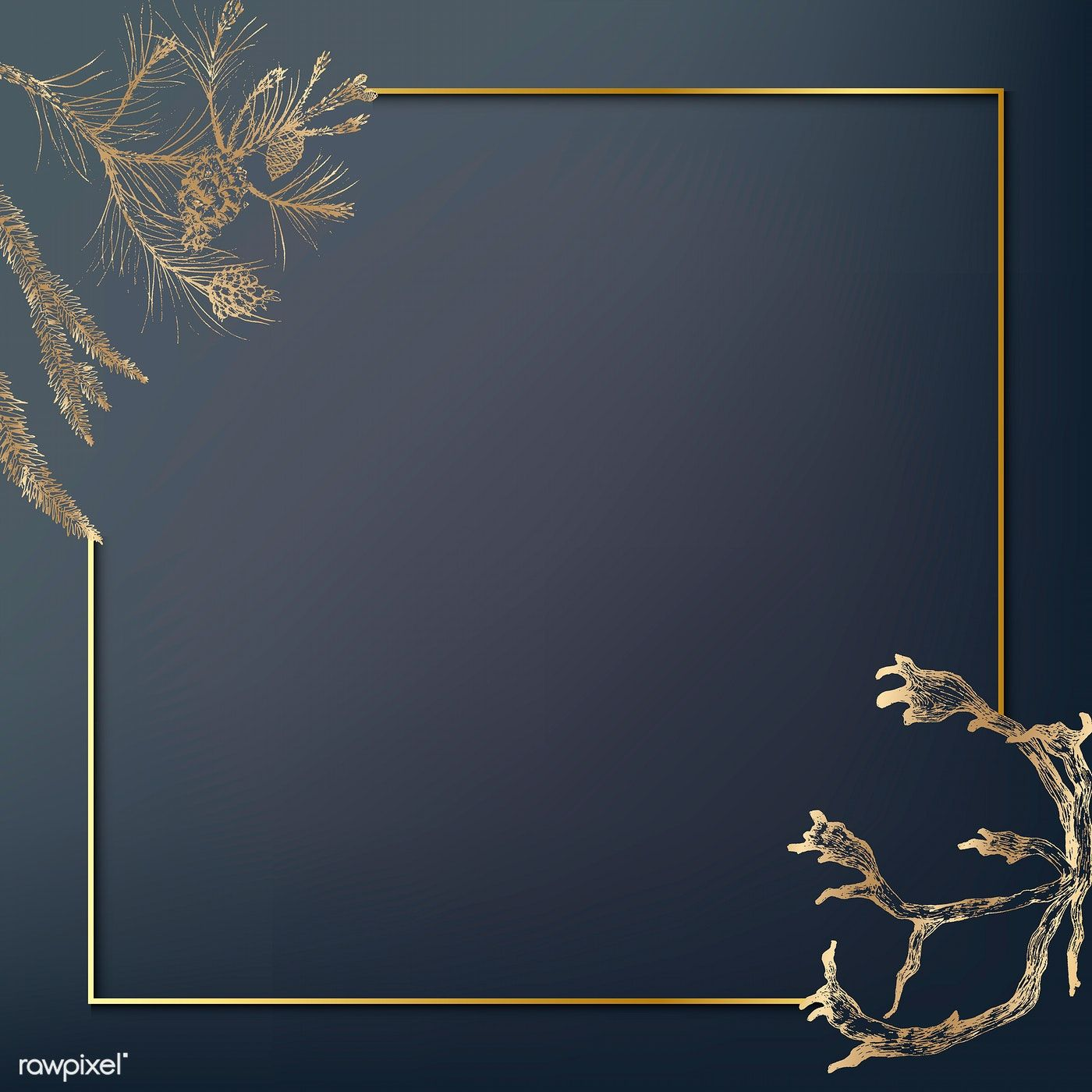 Download premium vector of Gold frame decorated with