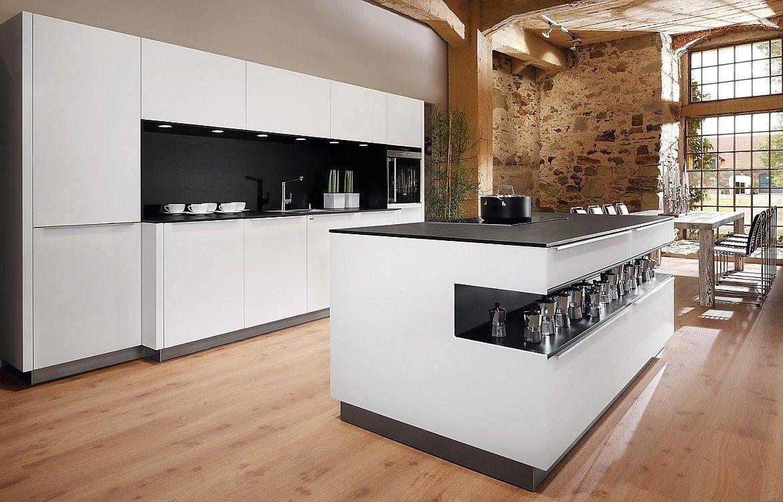 Küchen Modern Mit Kochinsel SieMatic URBAN: Moderne, Offene Wohnküche Mit  Großer Kochinsel Im .
