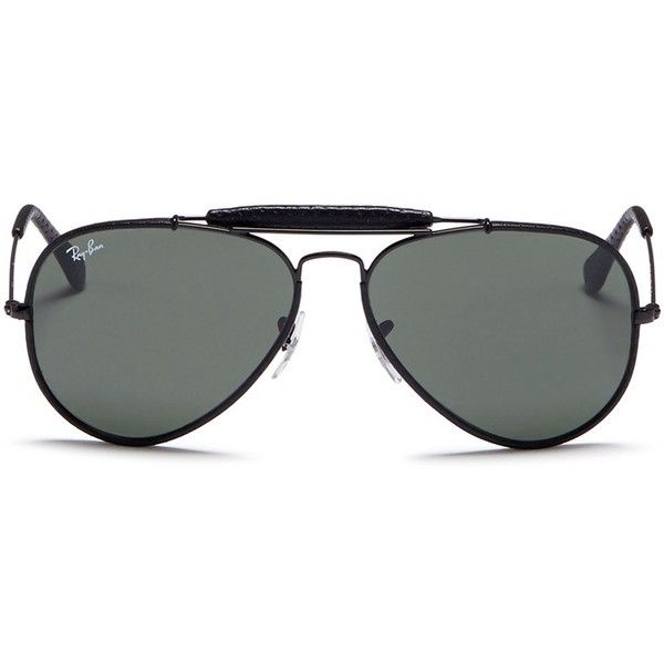 cf1aef1a2152 Ray-Ban  Outdoorsman Craft  leather wrap metal aviator sunglasses (760 ILS)
