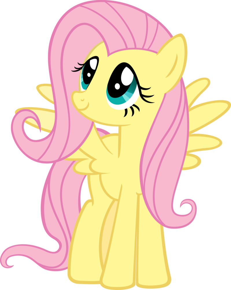 Fluttershy really is adorable | dibujos | Pinterest | Pequeño pony ...