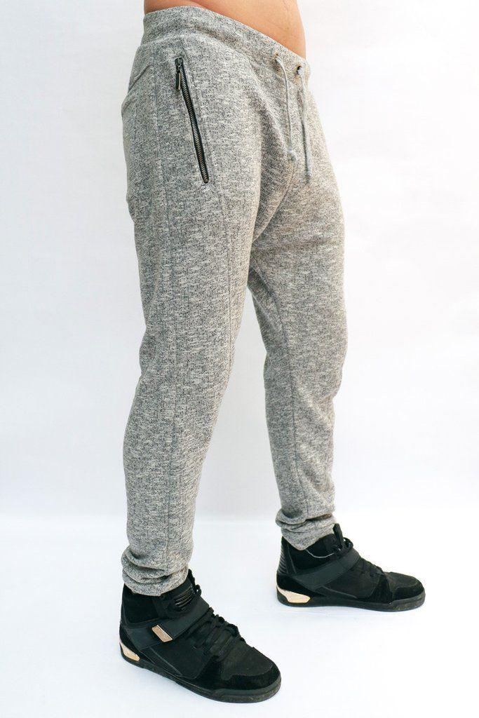 eecd922b69413 Joggers Para Hombre - Jogger Jaspe Con Cierres Bordado Cruzado –  urbanwearco Pantalones De Hombre