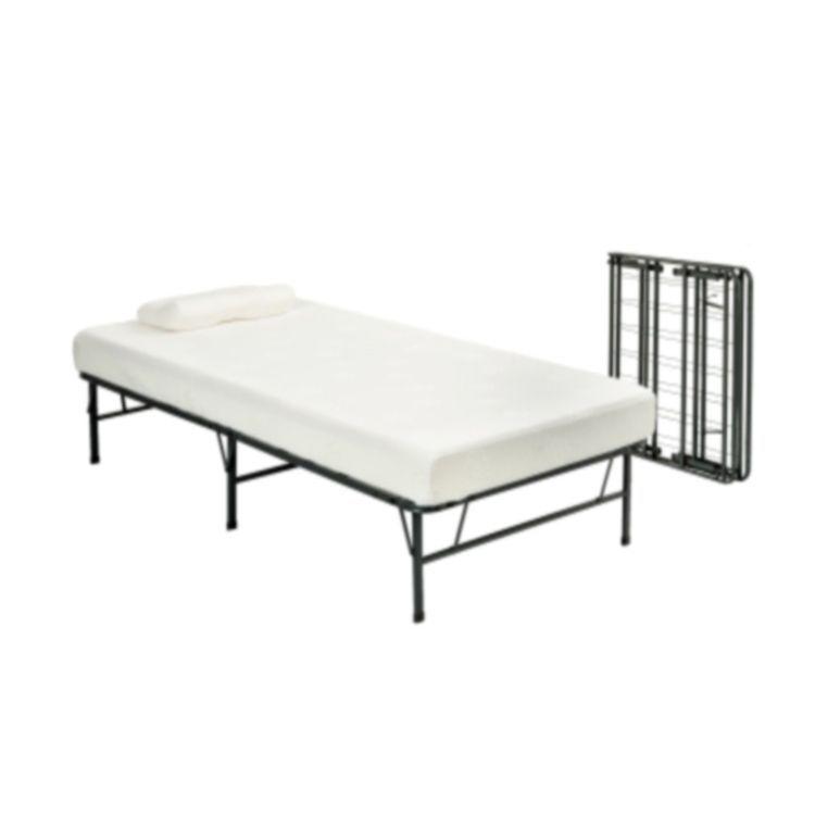 Pragma Bi-Fold Twin Bed Frame with Memory Foam Mattress (Bi-Fold ...