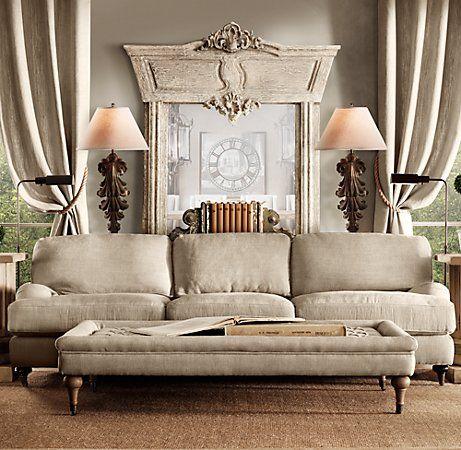 Linen sofa-Neutral Tones