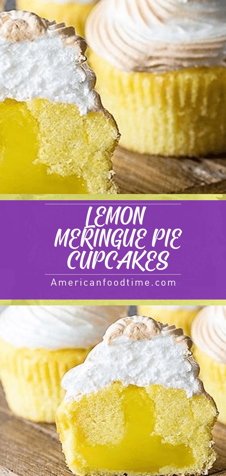 LEMON MERINGUE CUPCAKES!!!! – American food time #lemonmeringuecheesecake