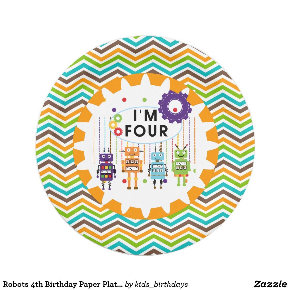 Robots 4th Birthday Paper Plates  sc 1 st  Pinterest & Robots 4th Birthday Paper Plates | Birthdays