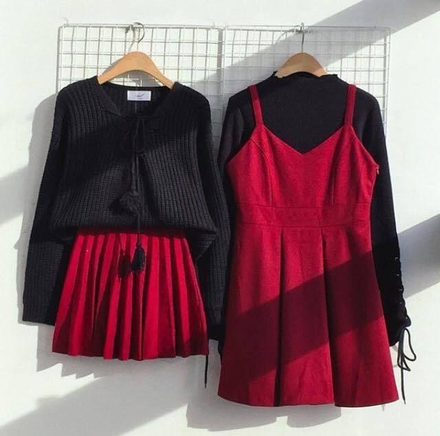 เสื้อสีแดง-ดำ