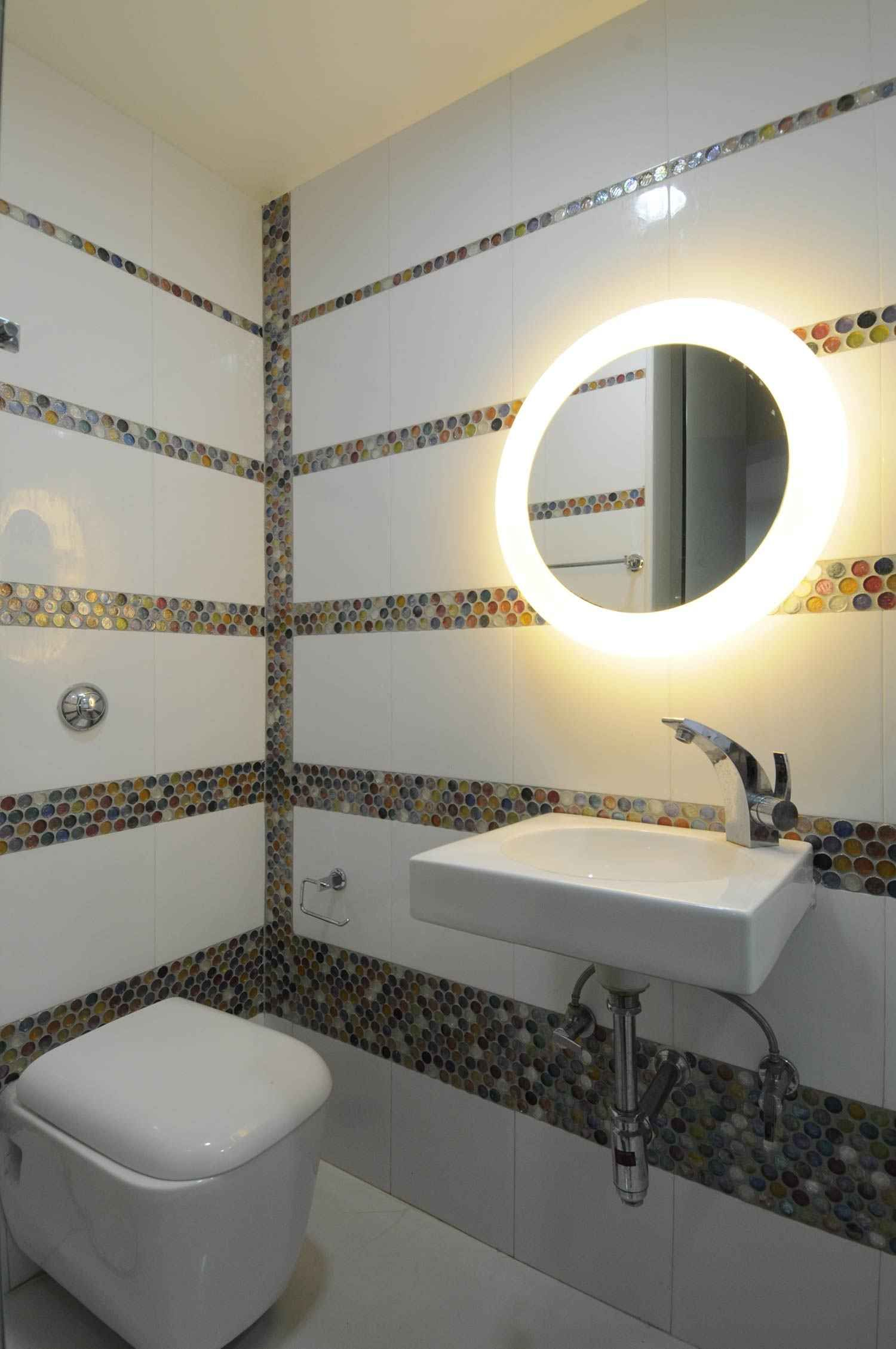 bathroom with mirror by sonali shah architect in mumbai maharashtra india - Bathroom Designs In Mumbai