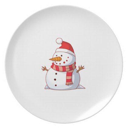 Plastic Plate-Christmas Snowman Dinner Plate  sc 1 st  Pinterest & Plastic Plate-Christmas Snowman Dinner Plate | Plastic plates
