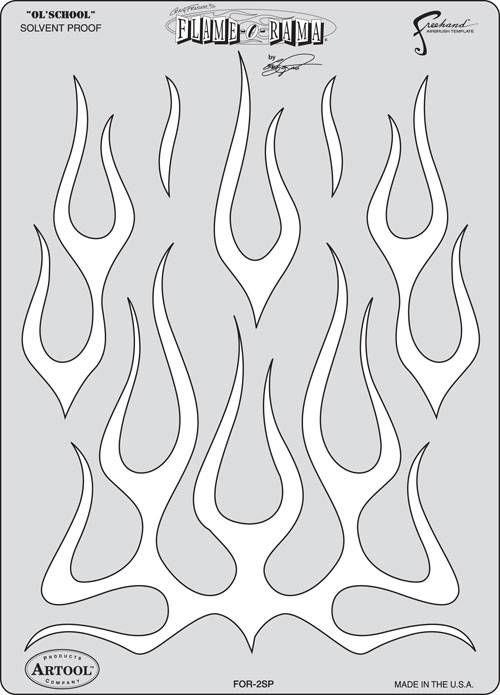 Artool Freehand Iwata Craig Fraser Flame O/'Rama Mini Airbrush Stencil Paint Set