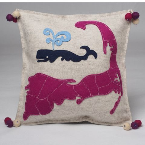 Cape Cod Map And Whaling Pillow Great Pillow You Will Find A Best Cape Cod Decorative Pillows