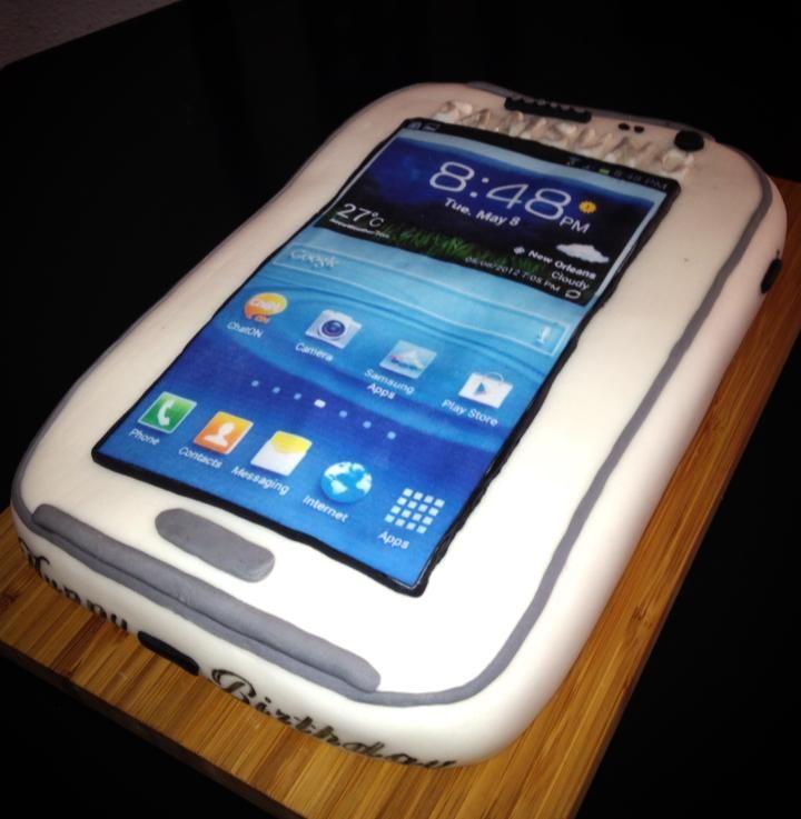 Samsung Handy Torte Kuchen Und Torten Samsung Handy Kuchen Ohne Backen