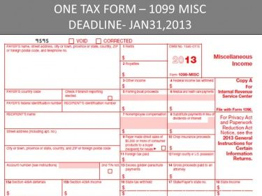 The One Tax Form You Are Responsible For Sending In January That