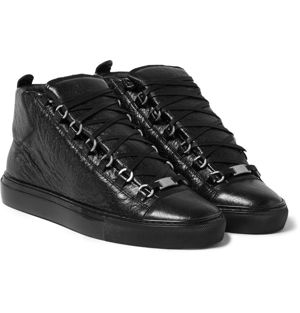 Balenciaga - Arena Creased-Leather High Top Sneakers   SOUF ... 9f8393e89ac