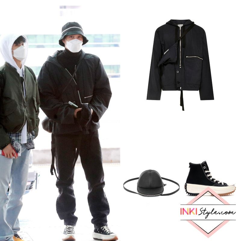 Exo S Kai Ready To Rock The Airport With His Super Cool Athleisure Look Hiking Outfit Exo Fashion Korean Fashion