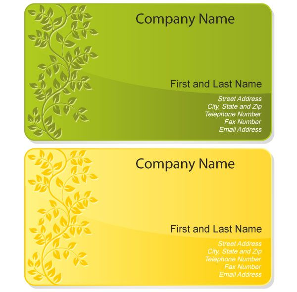 Free Floral Design Business Card Template Vector  Card Templates