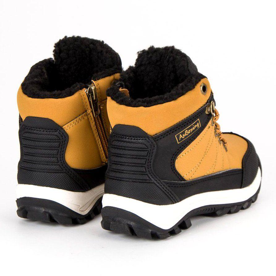 Polbuty I Trzewiki Dzieciece Dla Dzieci Axboxing Ax Boxing Zolte Cieple Obuwie Nad Kostke Boots Shoes Winter Boot