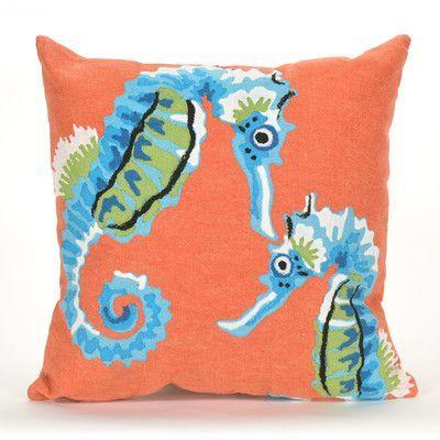 Liora Manne Visions III Seashorse Indoor/Outdoor Throw Pillow