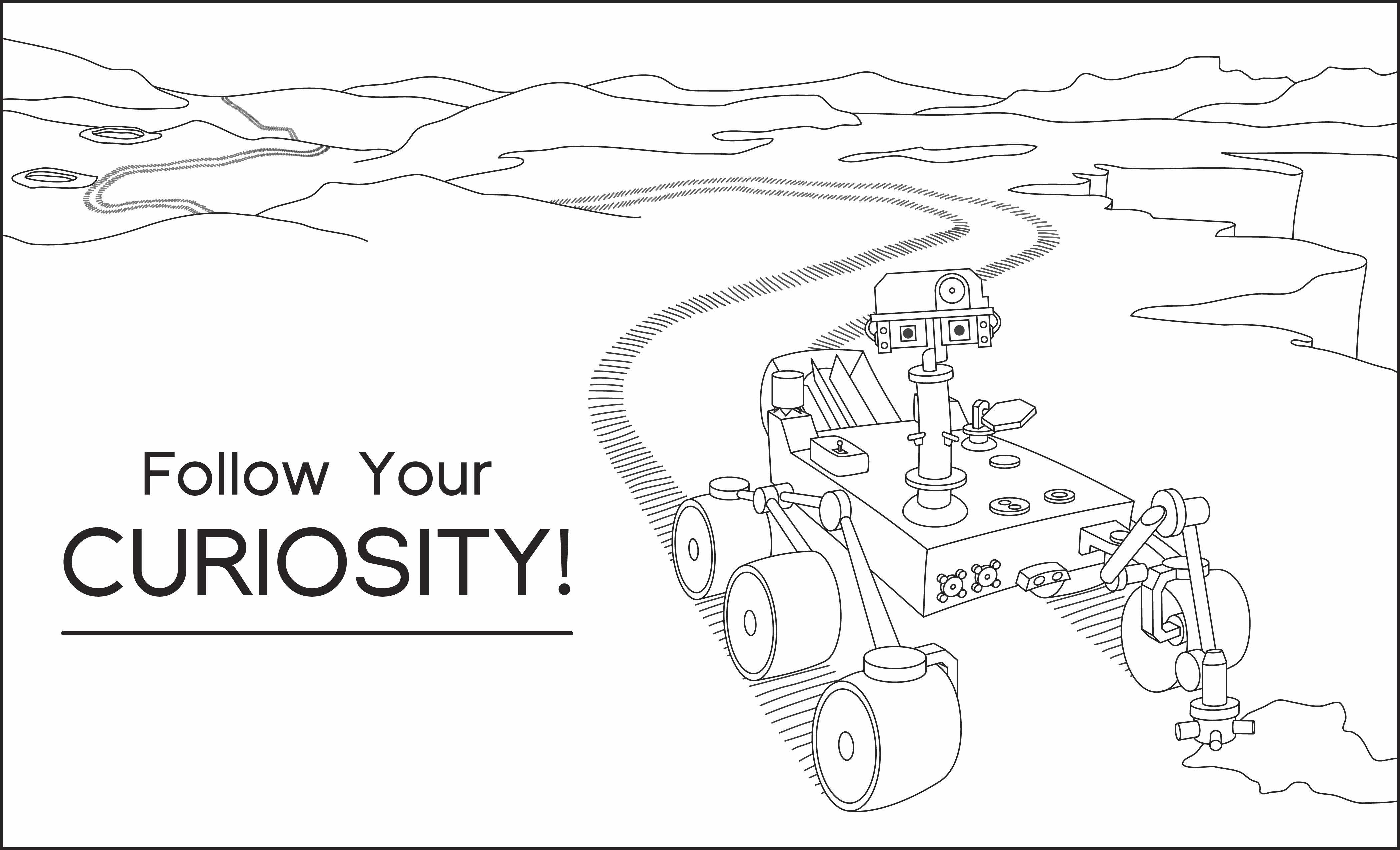 Kids Coloring Sheet - Parents, students download this rover ...