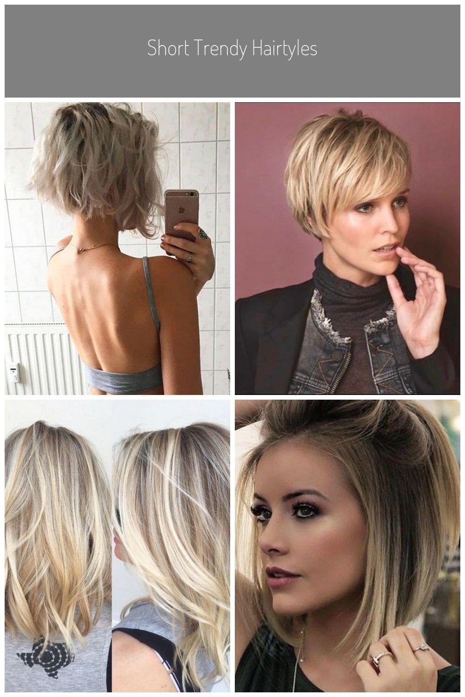 Short Trendy Hairtyles Halblang Haare 2019 In 2020 Hairtyles Trendy Short