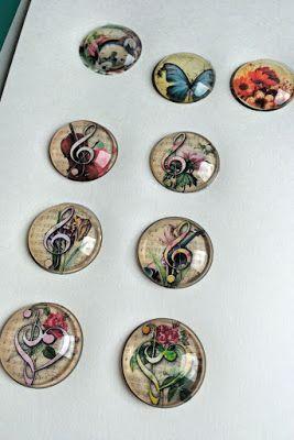 10 Porcelain Cabochons Craft Jewelry Mod Podge Transfer