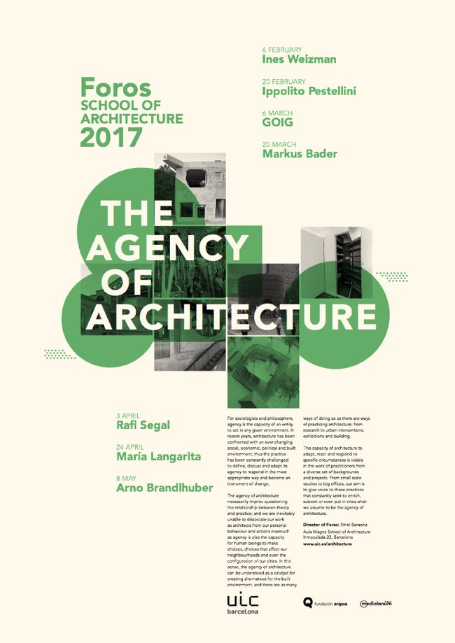 Get Lectured: UIC Barcelona Foros 2017 #posterdesigns