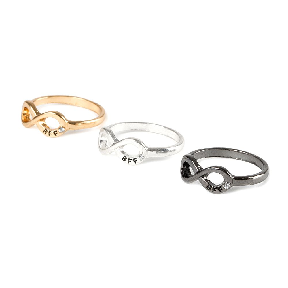 55737a79e6a4f Best Friends Forever Infinity Symbol Rings Set of 3 | CLOTHES MY ...