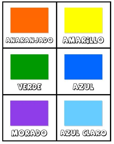 free printable Spanish colors cards los colores activity set for ...