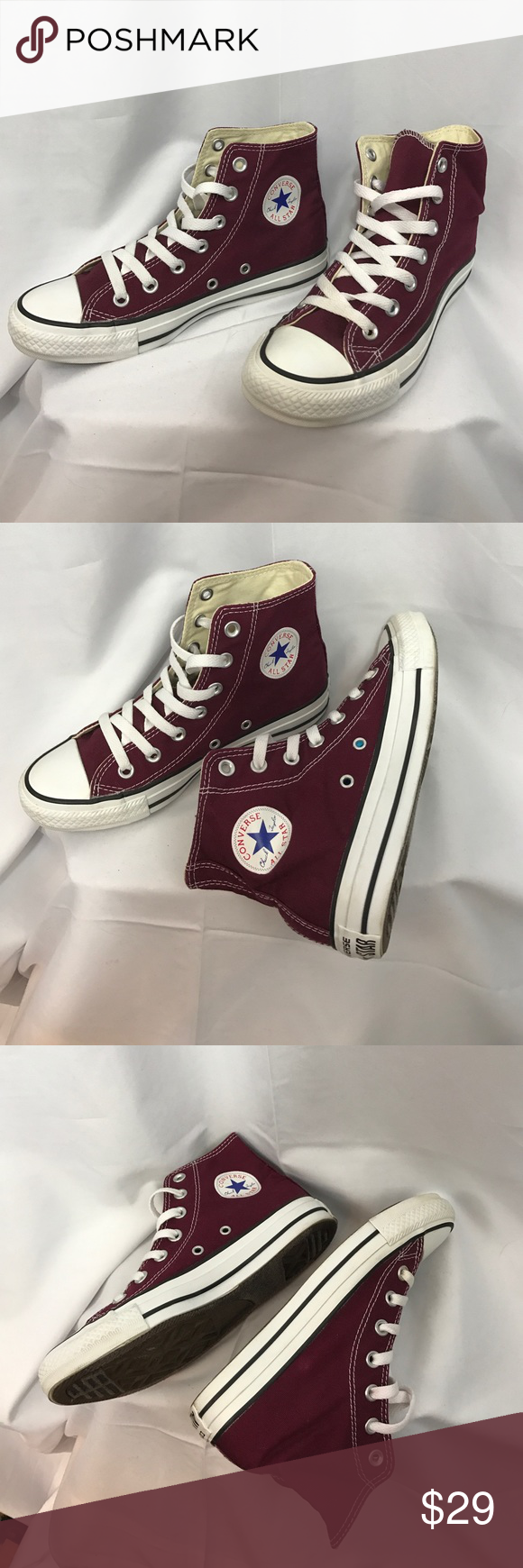 67cfeef61d7 Converse All Star sz6 burgundy high top sneakers Excellent used condition Converse  All Star sz6 burgundy high top sneakers...very little wear...like new.