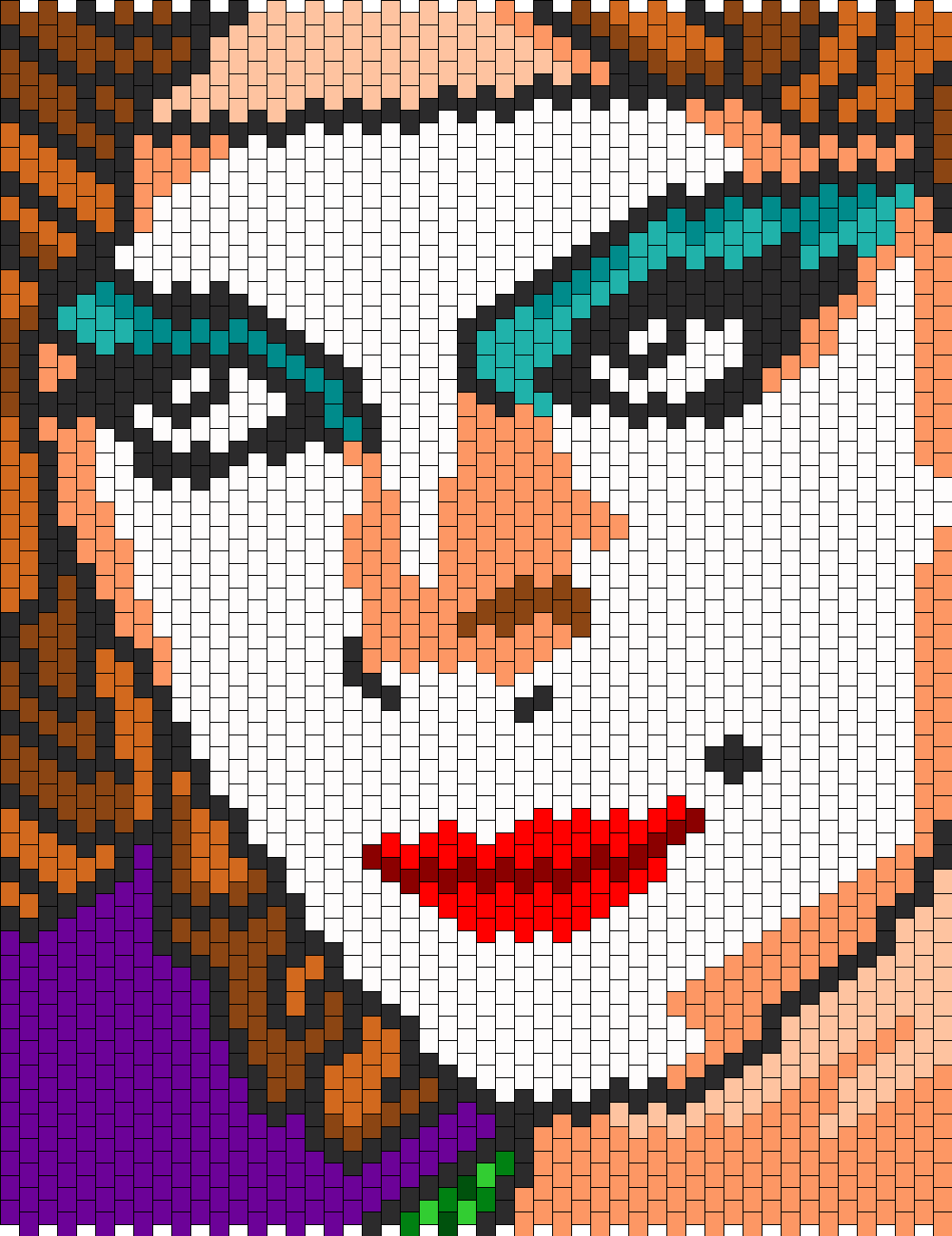 Janet (from Rocky Horror Picture Show) (for Brick stitch/ Multi ...