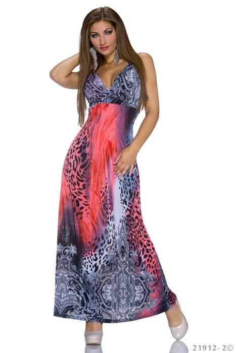 Dámské dlouhé letní šaty  7df394ba6f