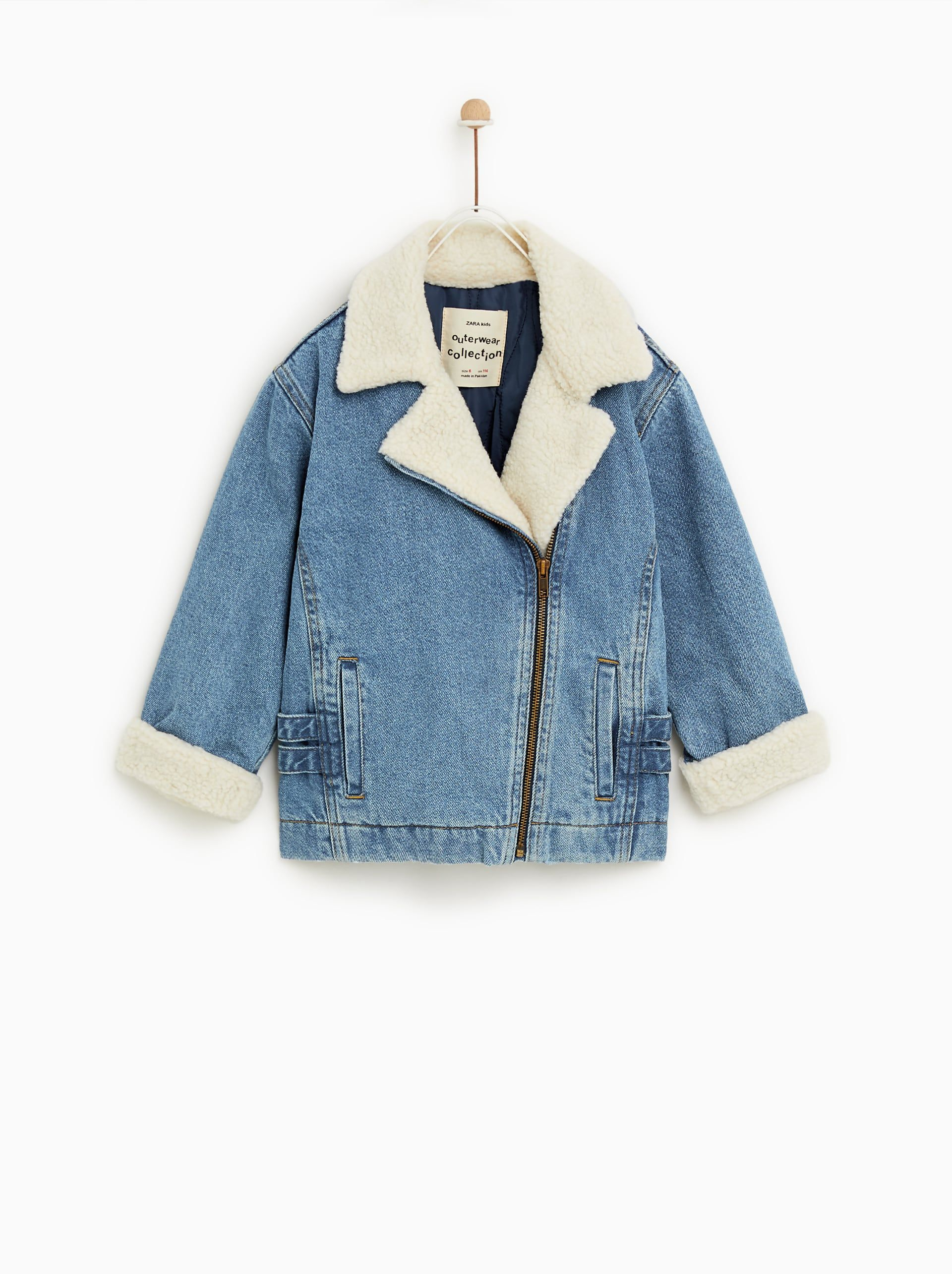 60095551 Faux shearling denim jacket in 2019 | Back to School in Style | Kids ...