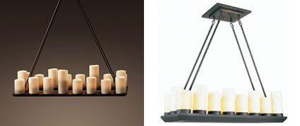 Rectangular Pillar Candle Chandelier Chandeliers Design – Dining Room Candle Chandelier