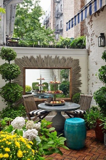 small patio inspiration gardens and patios garden small rh pinterest com