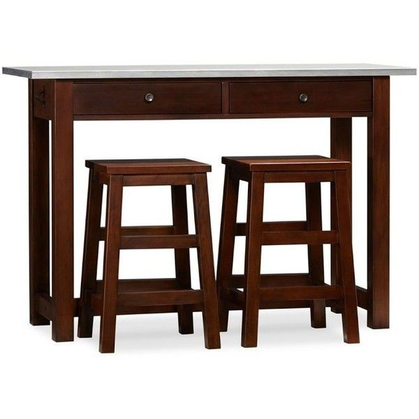 Balboa Counter Height Table And Stools, Espresso Contemporary Bar Tables