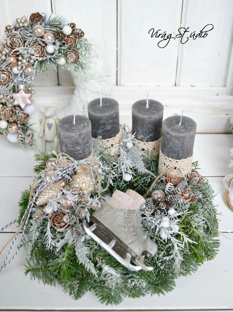 Adventsgesteck #rustikaleweihnachten