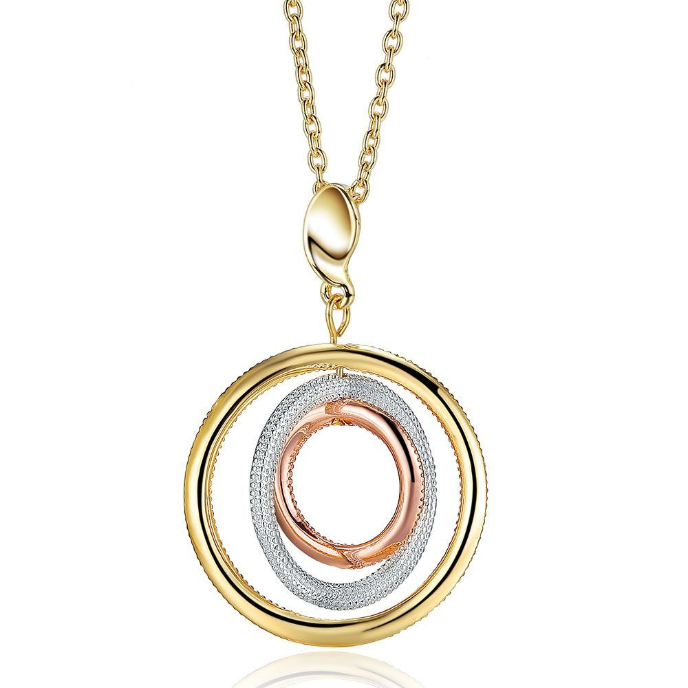 delicate triple circles on hugerect luulla interlocking necklace circle product sterling silver